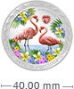 1 oz Silver Coin - Love is Precious- Flamingos (2021)