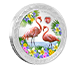 Buy 1 oz Silver Coin - Love is Precious- Flamingos (2021), image 1