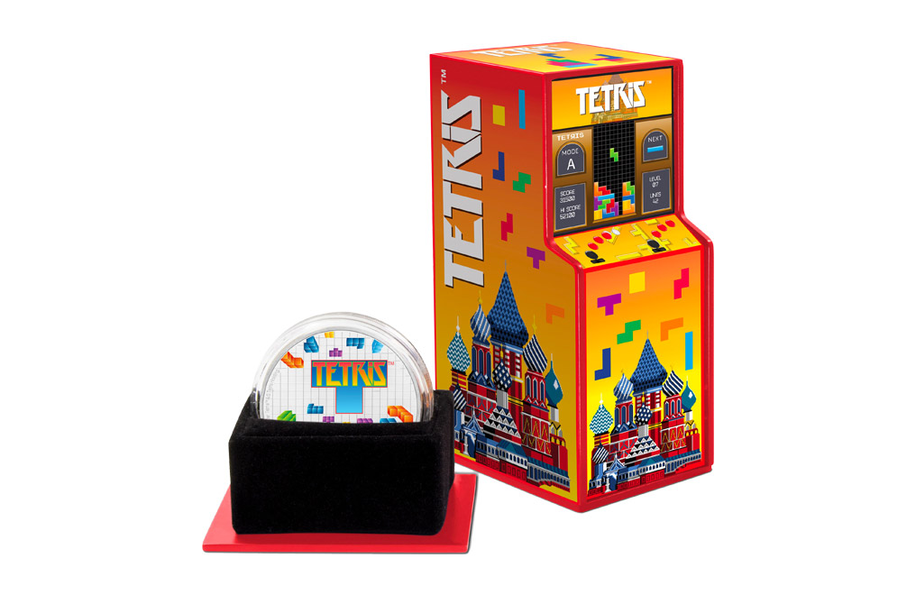 Buy 1 oz Silver Coin .999 - Tetris 35th Anniversary .999, image 0