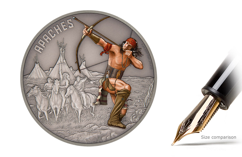 Buy 1 oz Silver Coin Warriors of History- Apaches .999, image 0