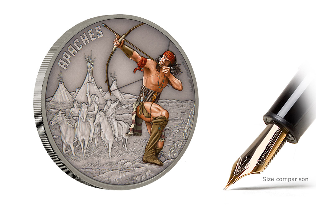 Buy 1 oz Silver Coin Warriors of History- Apaches .999, image 4