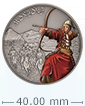 1 oz Silver Coin Warriors of History - Mongols .999