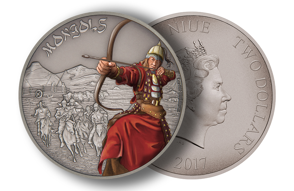 1 oz Silver Coin Warriors of History - Mongols .999, image 2