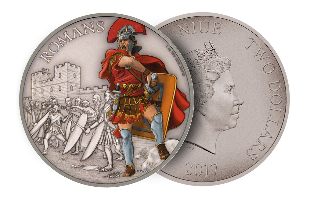 Buy 1 oz Silver Coin Warriors of History - Romans .999, image 2