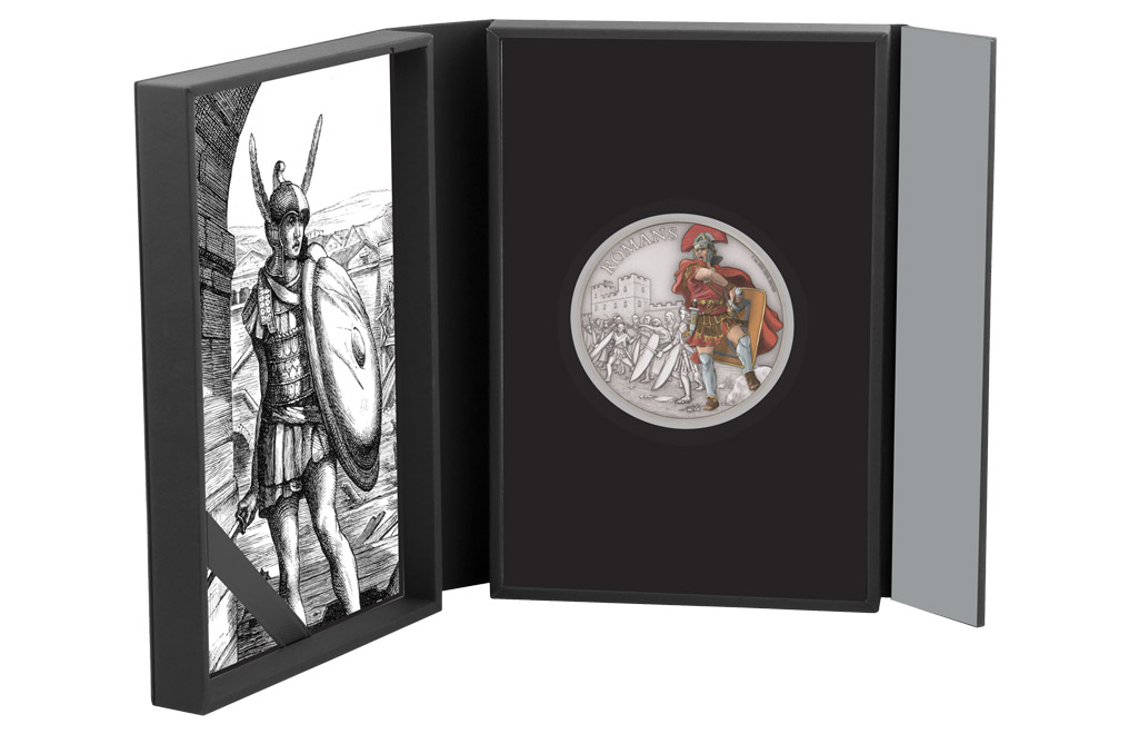 Buy 1 oz Silver Coin Warriors of History - Romans .999, image 3