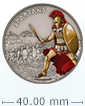 1 oz Silver Coin Warriors of History - Spartans .999