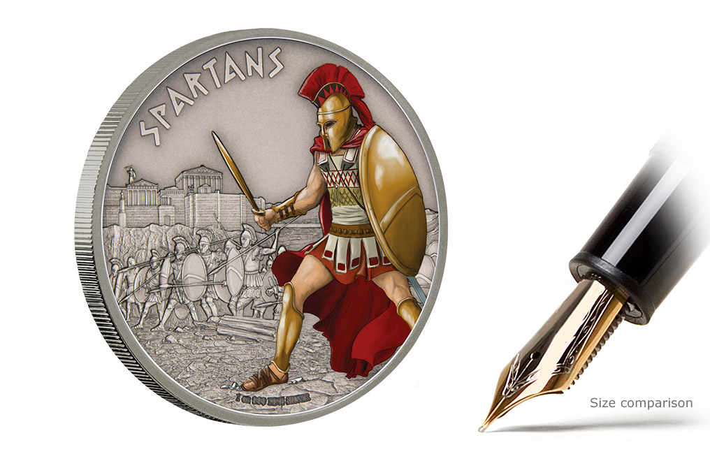 Buy 1 oz Silver Coin Warriors of History - Spartans .999, image 4
