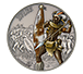 1 oz Silver Coin Warriors of History - Zulus .999, image 0