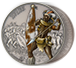 1 oz Silver Coin Warriors of History - Zulus .999, image 2