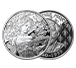 Buy 1 oz Silver Mucha Champagne White Star Proof Round, image 2