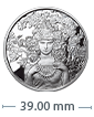 1 oz Silver Mucha Rose Proof Round