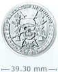 1 oz Silver Pieces of Eight- Silver Shield BU Round .999