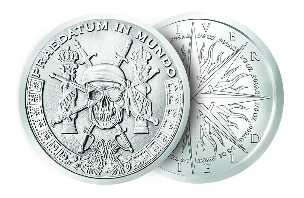 Buy 1 oz Silver Pieces of Eight Silver Shield Rounds, image 2