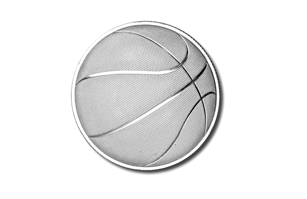 Buy 1 oz Silver Round .999 - 3D Domed Basketball, image 0