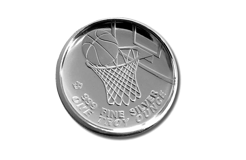 Buy 1 oz Silver Round .999 - 3D Domed Basketball, image 1