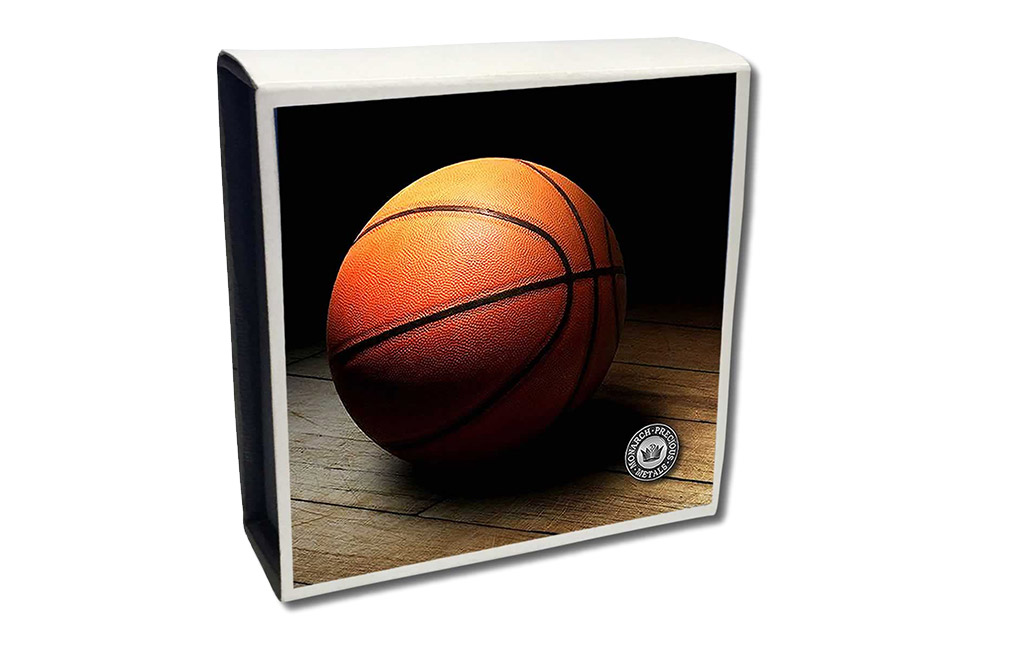Buy 1 oz Silver Round .999 - 3D Domed Basketball, image 4