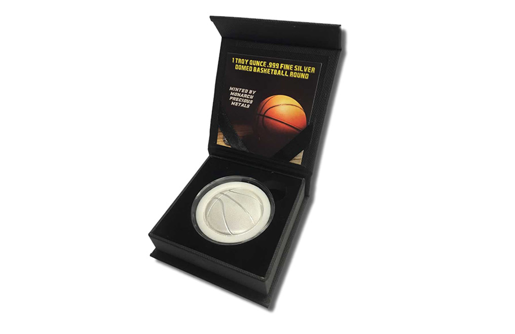 Buy 1 oz Silver Round .999 - 3D Domed Basketball, image 5