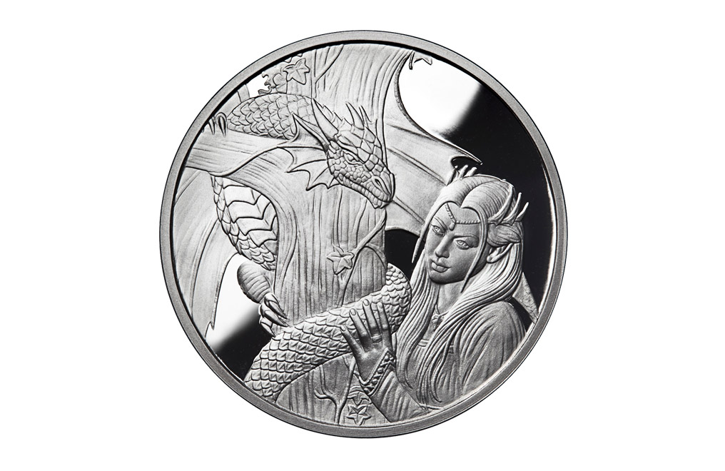 Buy 1 oz Silver Round .999 -Anne Stokes-Kindred Spirits, image 0