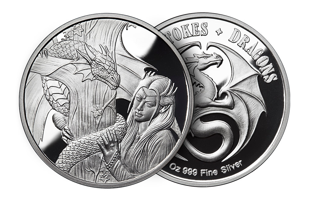 Buy 1 oz Silver Round .999 -Anne Stokes-Kindred Spirits, image 2
