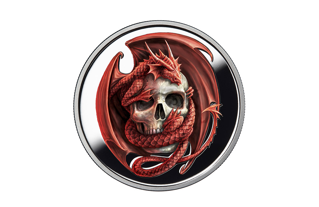 Buy 1 oz Silver Round .999 - Anne Stokes - Skull Embrace, image 0