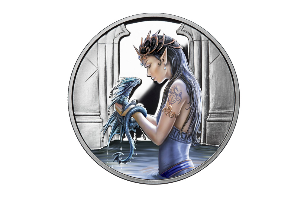 Buy 1 oz Silver Round .999 - Anne Stokes - Water Dragon, image 0