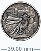 1 oz Silver Round .999-Celtic- Welsh Dragon (Antique Finish)