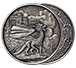 Buy 1 oz Silver Round .999-Celtic- Welsh Dragon (Antique), image 2
