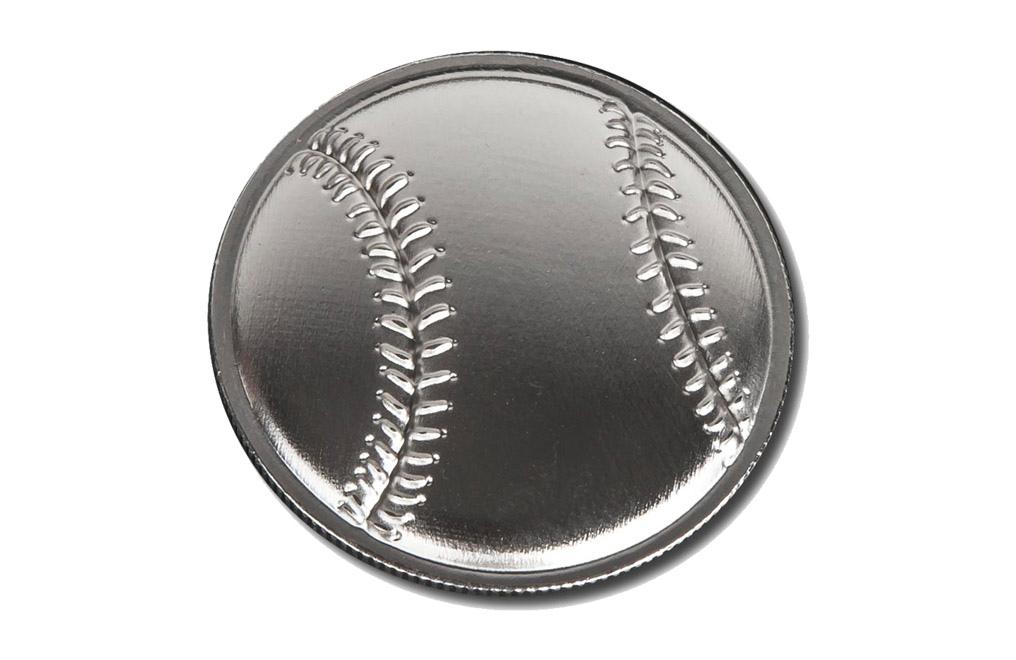 Buy 1 oz Silver Round .999 - Curved Domed 3D- Baseball, image 0