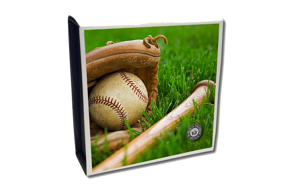 Buy 1 oz Silver Round .999 - Curved Domed 3D- Baseball, image 4