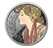 Buy 1 oz Silver Round .999 -Mucha - Laurel (Colorized), image 0