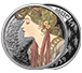 Buy 1 oz Silver Round .999 -Mucha - Laurel (Colorized), image 2