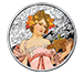Buy 1 oz Silver Round .999 -Mucha- Champagne White Star (Colorized), image 0