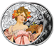 Buy 1 oz Silver Round .999 -Mucha- Champagne White Star (Colorized), image 2