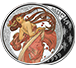 Buy 1 oz Silver Round .999-Mucha-Dance (Colorized), image 2