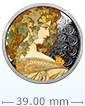 1 oz Silver Round .999 - Mucha - Ivy (Colorized)