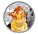 Buy 1 oz Silver Round .999 -Mucha -Rose (Colorized), image 0