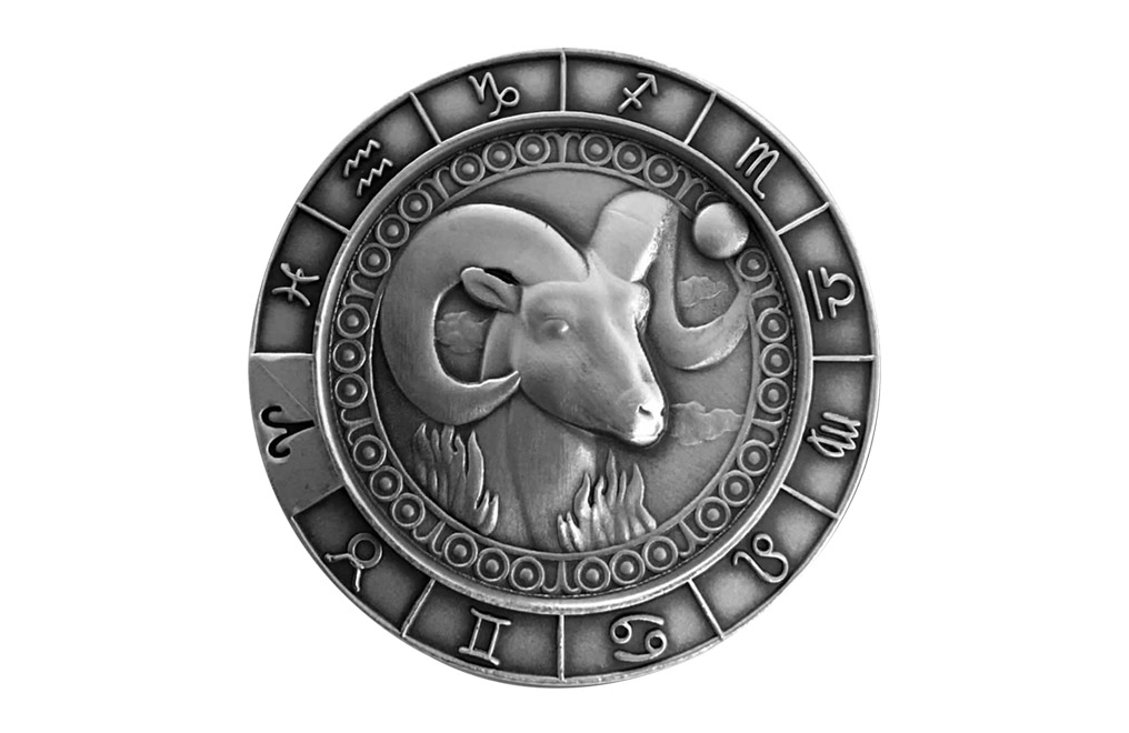 Buy 1 oz Silver Round .999 – Zodiac - Aries, image 0