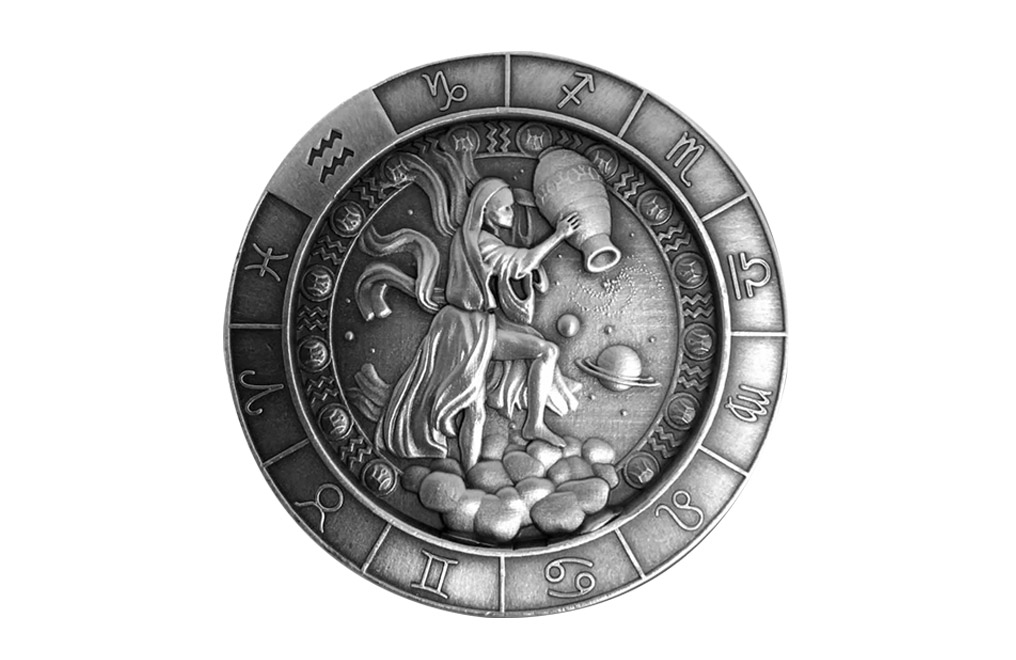 Buy 1 oz Silver Round .999 – Zodiac – Aquarius, image 0