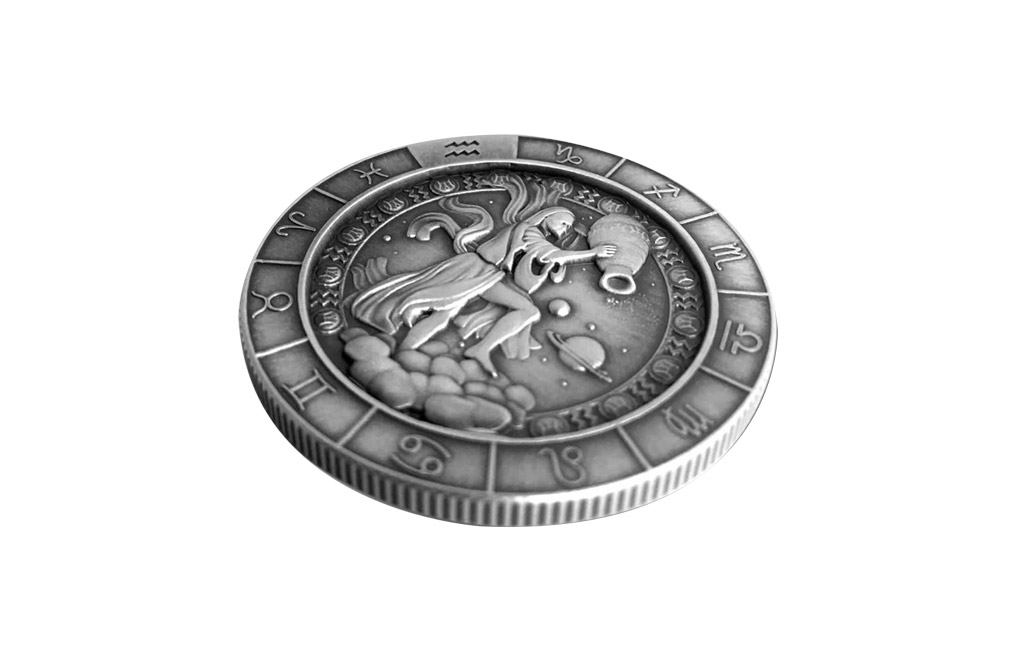 Buy 1 oz Silver Round .999 – Zodiac – Aquarius, image 4