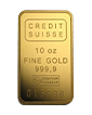 10 oz Gold Bar - Credit Suisse (w/certificate)