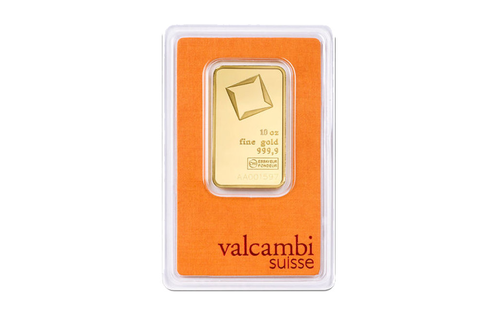 Sell Valcambi Suisse 10 oz Gold Bars, image 0