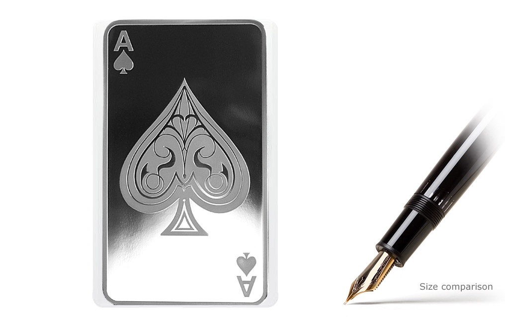Buy 10 Oz Silver Bars Ace Of Spades Buy Silver Bars Kitco