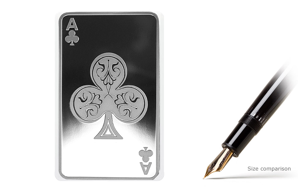 Buy 10 Oz Silver Bars Ace Of Clubs Buy Silver Bars Kitco