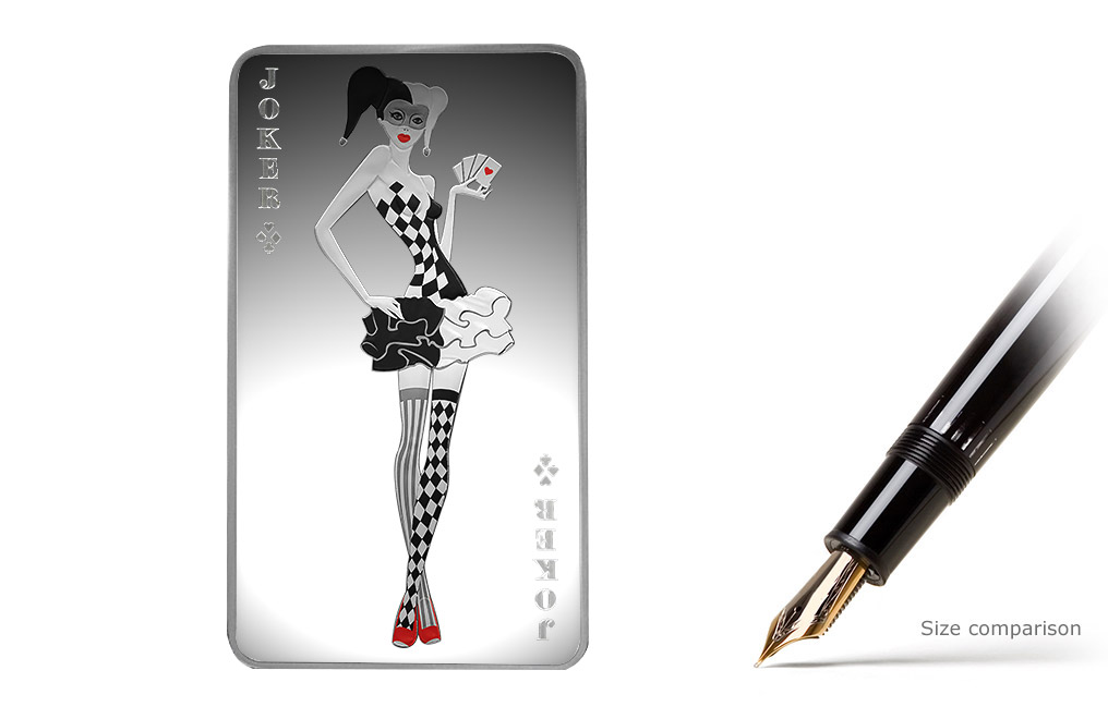 Buy 10 oz Silver Bar - Joker Girl, image 0