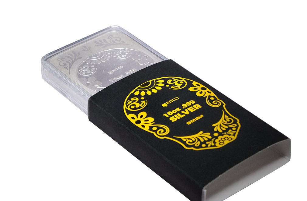 Buy 10 oz Silver Bar - Rose Skull .999, image 5