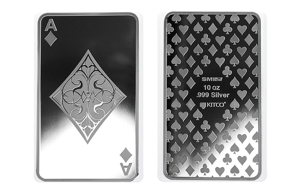 Buy 10 oz Silver Bar Set - 4 Aces + Joker Girl, image 3