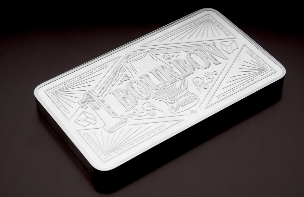 10 oz Silver Bar Three Piece Set– Bourbon, Scotch, Beer, image 3