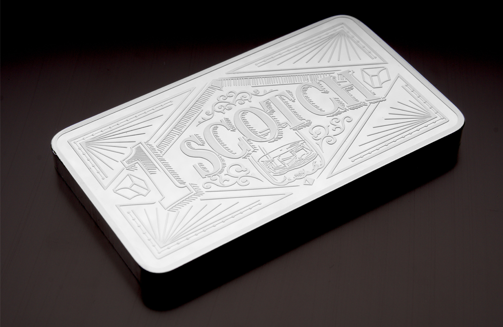 10 oz Silver Bar Three Piece Set– Bourbon, Scotch, Beer, image 4