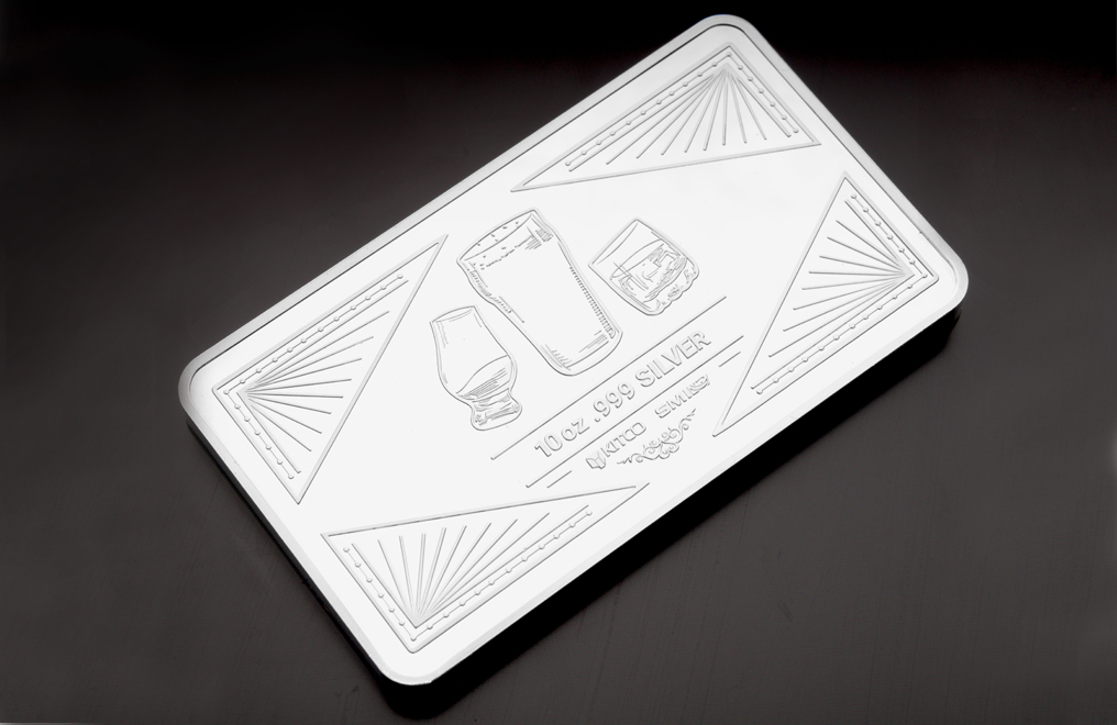 10 oz Silver Bar Three Piece Set– Bourbon, Scotch, Beer, image 6