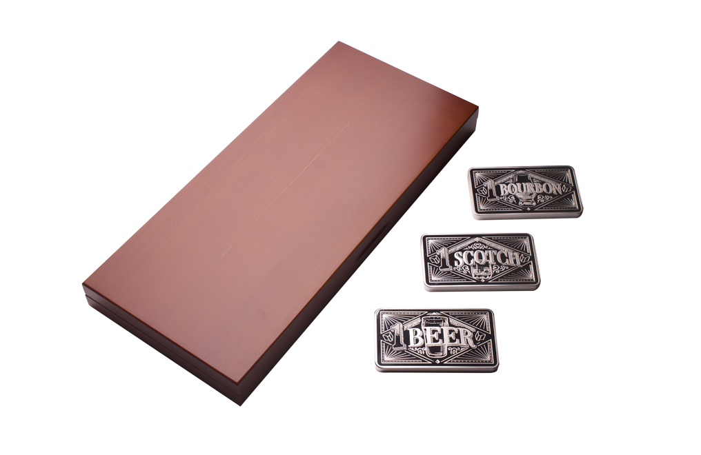 10 oz Silver Bar Three Piece Set– Bourbon, Scotch, Beer, image 1